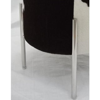 Stainless Steel Leg Black and White Cowhide Stool Preview