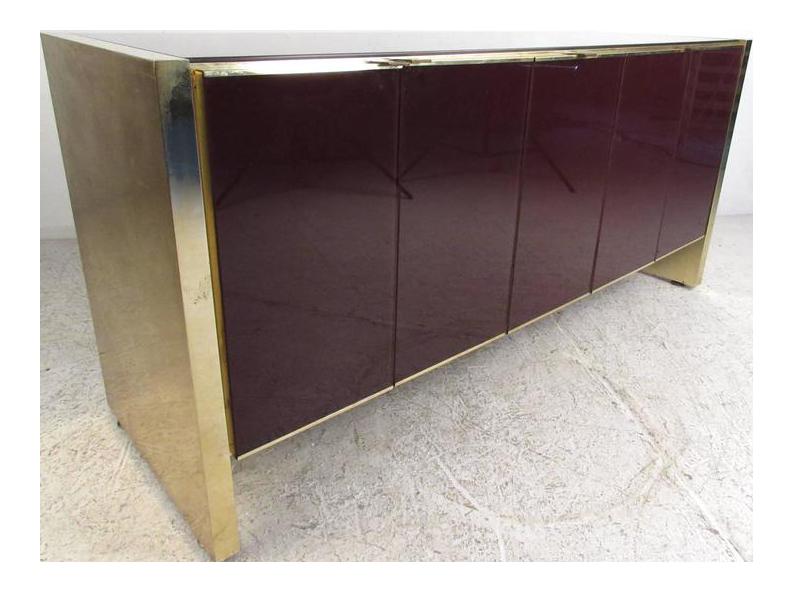 Etonnant Stylish Vintage Modern Glass Front Server By Ello Furniture