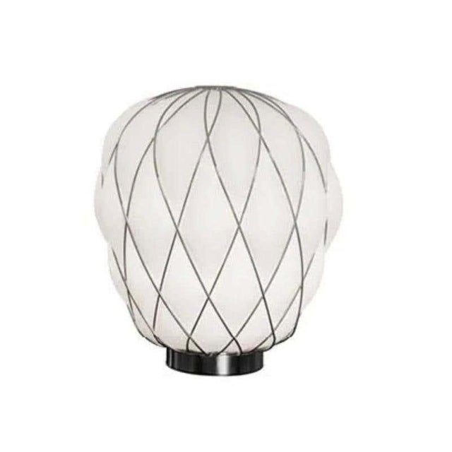Medium 'Pinecone' Table Lamp in Opaline Glass & Gold Metal for Fontana Arte For Sale In Los Angeles - Image 6 of 7