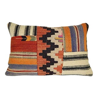 Patchwork Kilim Pillow Cover 16 X 24 Inch (40 X 60 Cm) Handmade Modern Design Kilim Pillow Cover For Sale