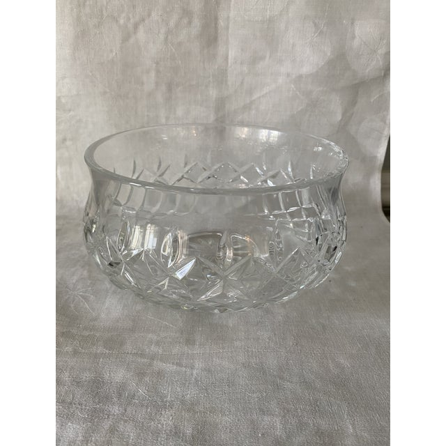"""This is a 7"""" marked Waterford footed crystal bowl in the Lismore pattern. It is in excellent condition. Dimensions are: 5""""..."""