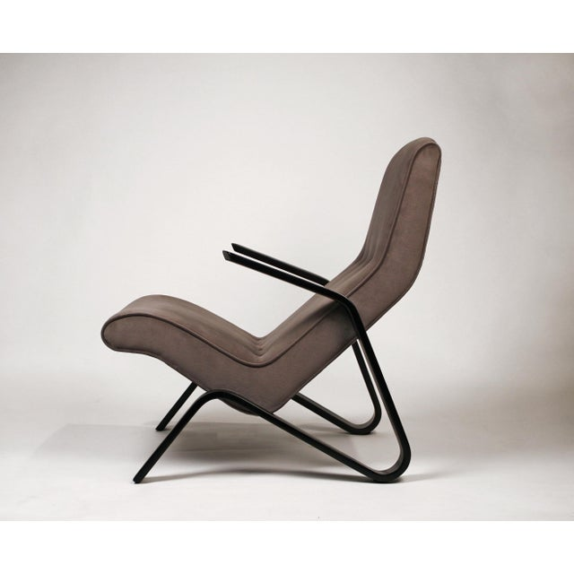 Mid-Century Modern Pair of Early Eero Saarinen Grasshopper Chairs for Knoll With Rare Black Frames For Sale - Image 3 of 10