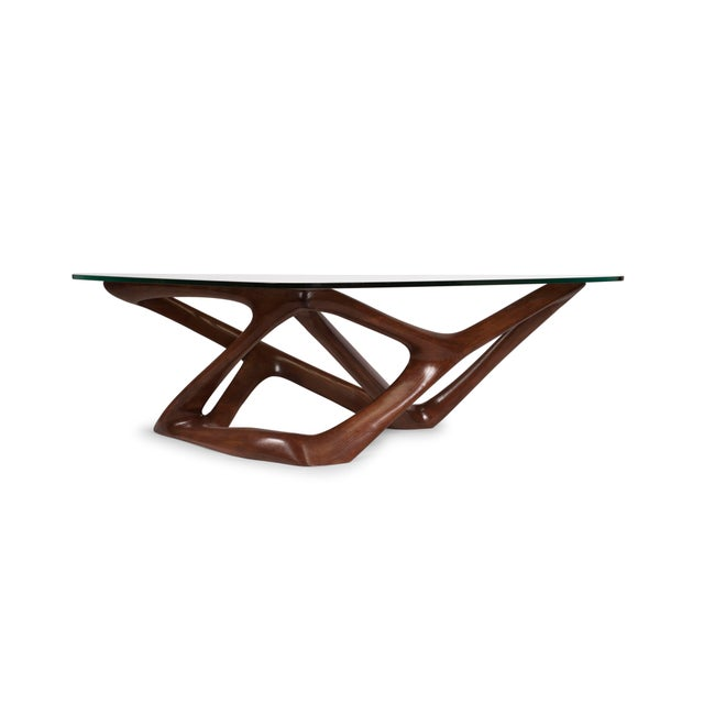Contemporary Amorph Climax Coffee Table - Walnut Finish For Sale - Image 3 of 11