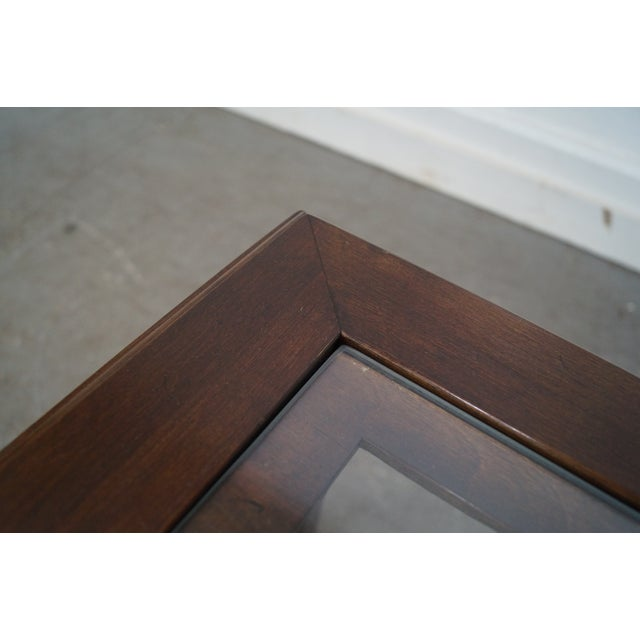 Chippendale Style Cherry Glass Top Coffee Table - Image 3 of 10