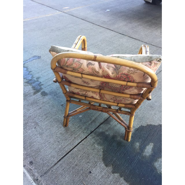 Mid-Century Modern Vintage Bamboo Arm Chair For Sale - Image 3 of 7