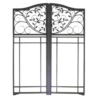 Edgar Brandt Gates With Leaves For Sale