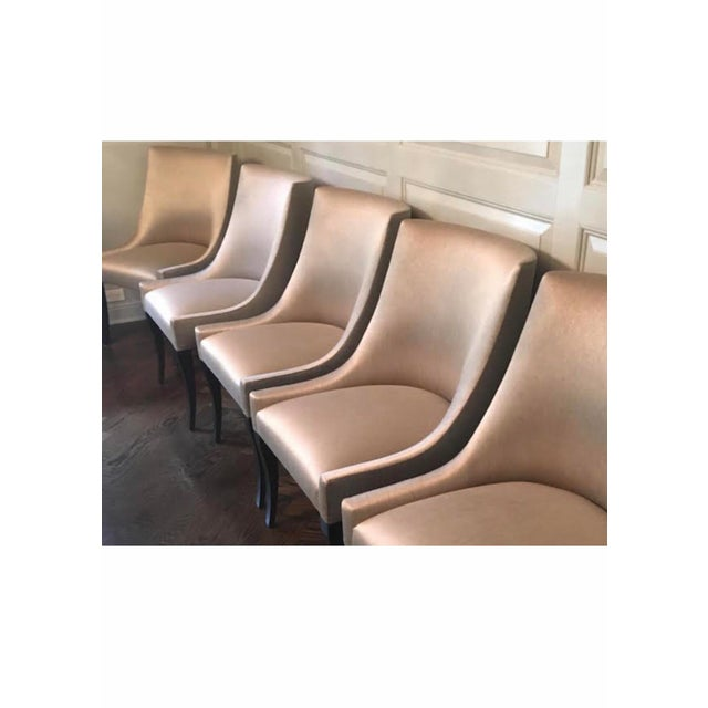 Modern Modern Tan Custom Dining Chairs- Set of 14 For Sale - Image 3 of 8