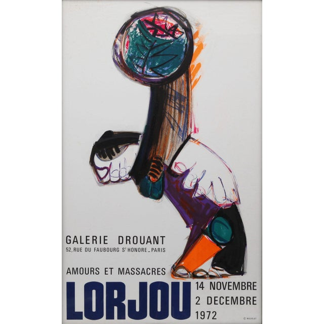 French Framed Poster for Bernard Lorjou at Galerie Drouant For Sale - Image 3 of 4