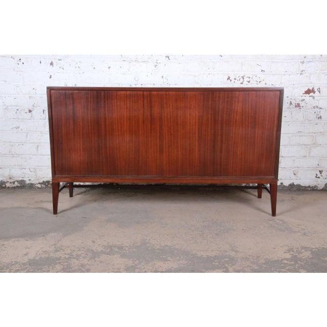 Paul McCobb for Calvin Irwin Collection Mahogany Sideboard Credenza, Newly Restored For Sale - Image 11 of 13
