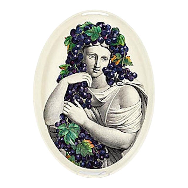 Vintage Fornasetti Tole Wine Goddess Tray For Sale