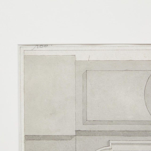 Traditional Early 20th Century Charcoal Architectural Drawing from France For Sale - Image 3 of 6