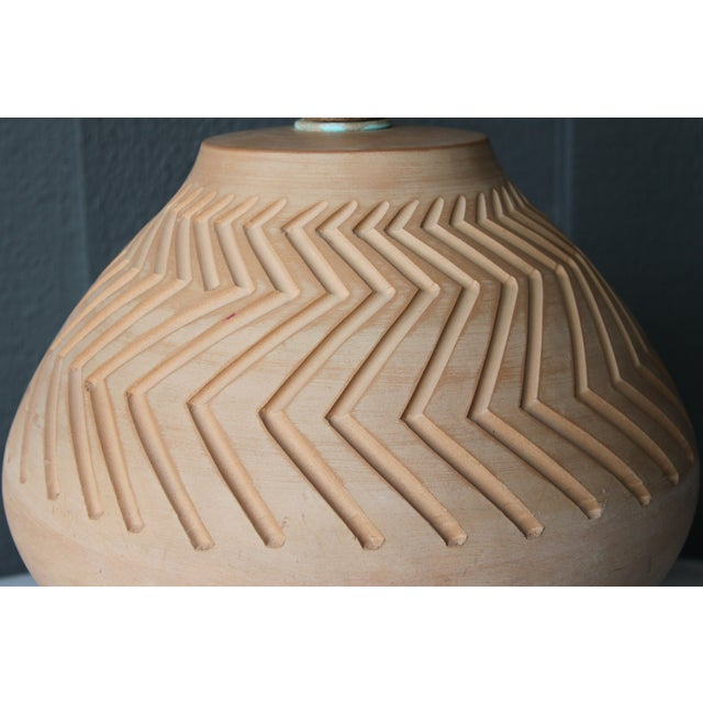 Native American Art Pottery Lamp - Image 10 of 11