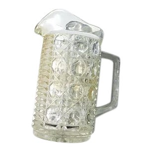 1950s Cut Glass Cocktail Pitcher For Sale