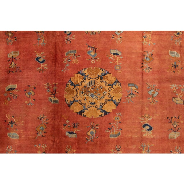 "1920s Apadana-Antique Indo Chinese Rug, 12'0"" X 13'6"" For Sale - Image 5 of 11"