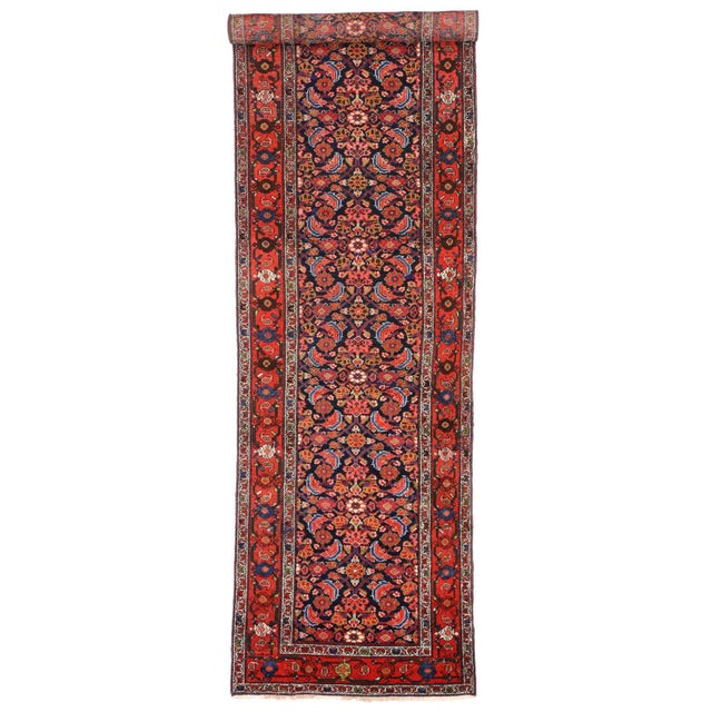 Antique Persian Malayer Runner with Modern Style For Sale In Dallas - Image 6 of 9