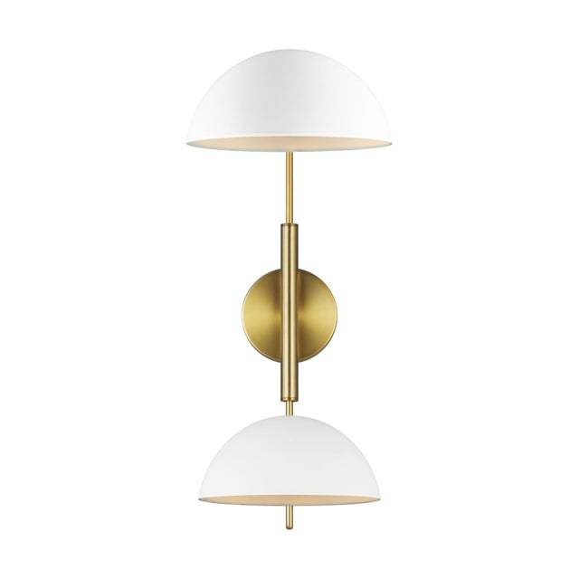 The Feiss Jane two light swing arm lamp in matte white provides abundant light for your bath vanity, while adding a layer...
