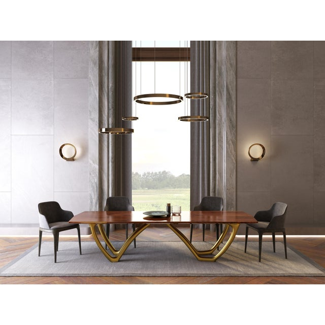 Contemporary Rice & Rice Fine Furniture Sculptura Royal Dining Table For Sale - Image 3 of 4
