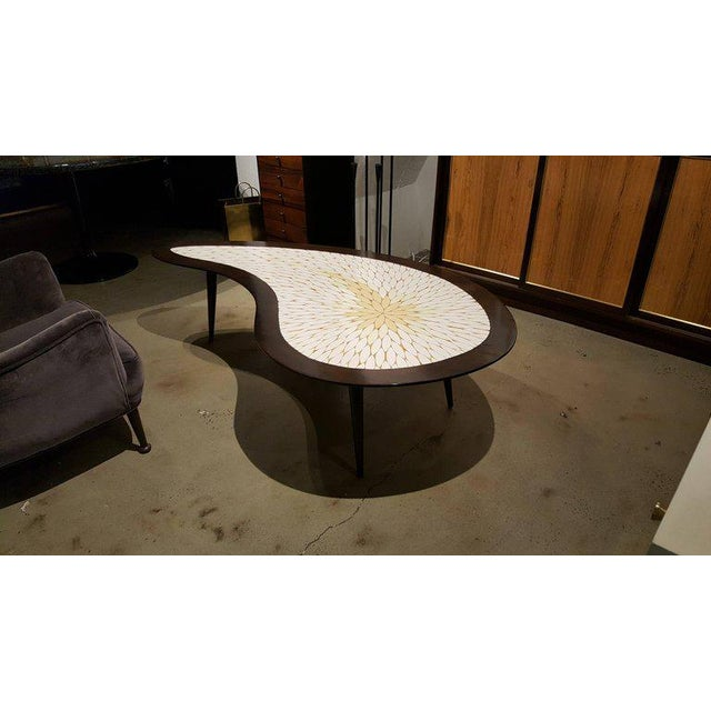 Biomorphic Mid-Century Modern Mosaic Tile Coffee Table