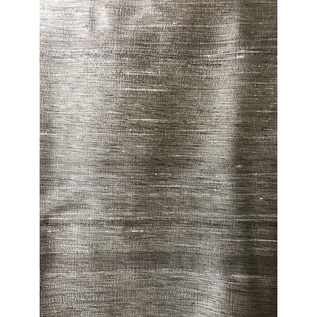 Silk Crate & Barrel Raw Silk Curtain Panels - Set of 4 For Sale - Image 7 of 8