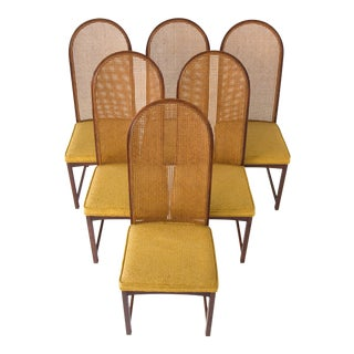 Milo Baughman High-Back Cane Chairs - Set of 6