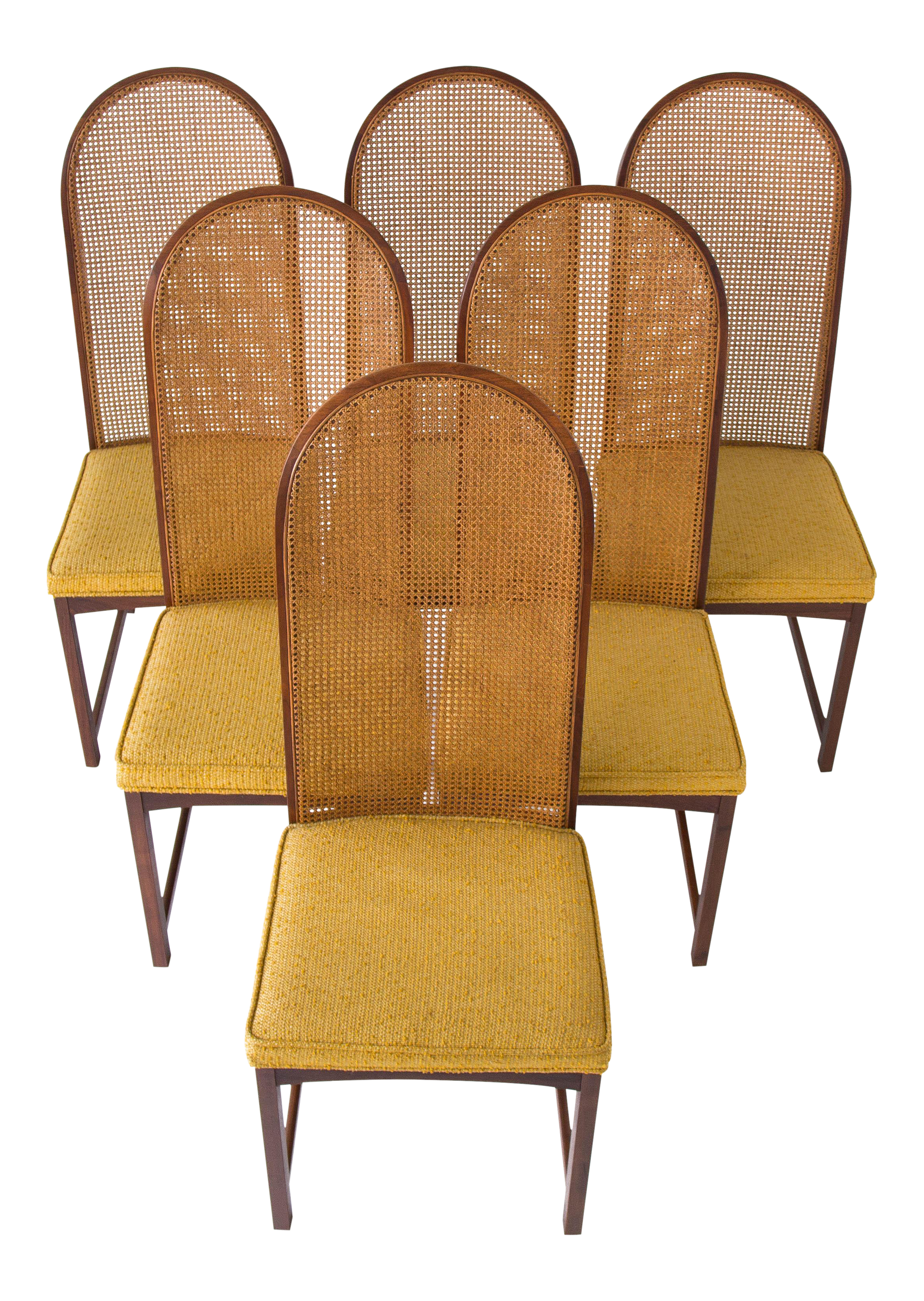 Charming Milo Baughman High Back Cane Chairs   Set Of 6   Image 1 Of 10