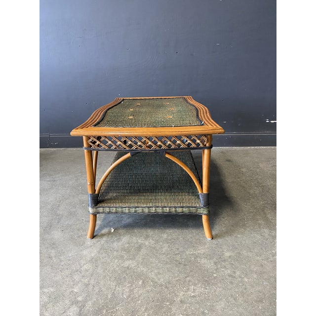 Vintage French Grange Wicker Sofa and Coffee Table For Sale - Image 12 of 13