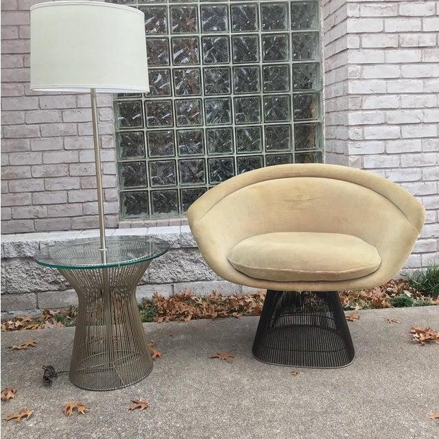 Mid 20th Century Platner for Knoll Sandstone Velvet Lounge Chair For Sale - Image 5 of 6