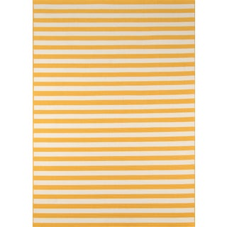 "Momeni Baja Yellow Indoor/Outdoor Rug - 7'10"" X 10'10"""