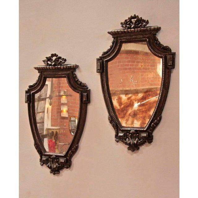Italian Pair of Italian 19th Century Mirrors For Sale - Image 3 of 10