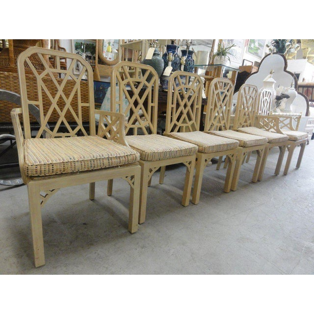 Palm Beach Regency Fretwork Chairs - Set of 6 - Image 11 of 11