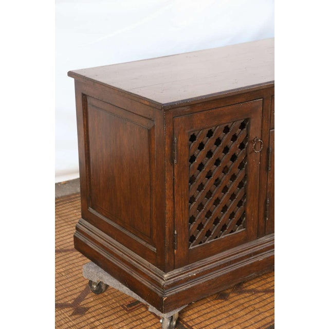 Walnut Mid Century Moroccan Handcrafted Decorative Desk For Sale - Image 7 of 10