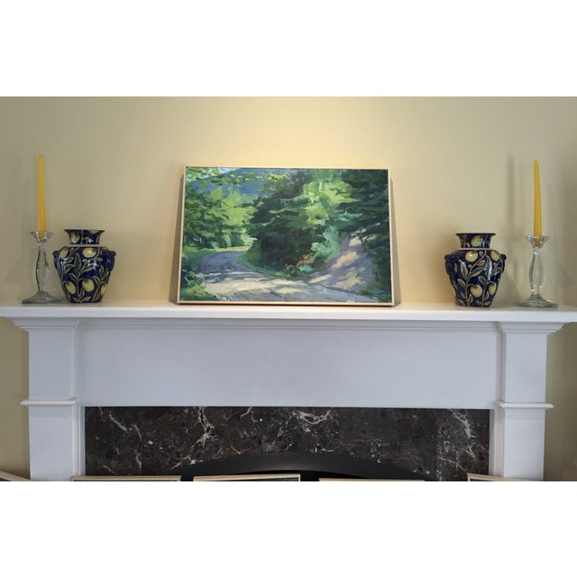 """Stephen Remick """"Vermont Mountain Road"""" Landscape Painting by Stephen Remick For Sale - Image 4 of 5"""