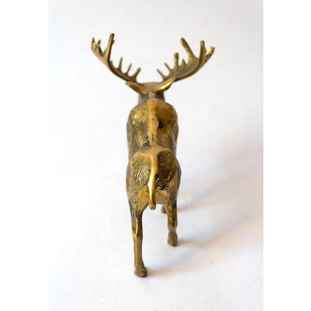 1970s Vintage Brass Moose Figure For Sale - Image 5 of 7