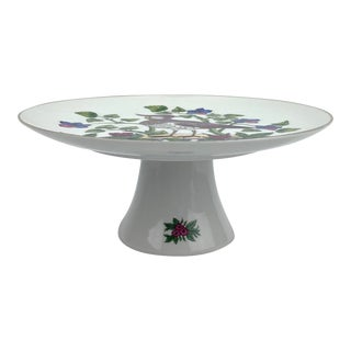 "Late 20th Century Vintage ""Aviary"" Cake Stand ""Inspired by Rare French Prints"" For Sale"