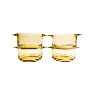 Mid-Century Amber Ramekin Dishes - Set of 4 For Sale