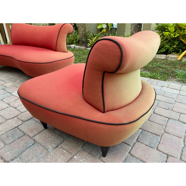1950s Cloud Sofa in the Style of Adrian Pearsall Peanut Shape - 2 Pieces For Sale In West Palm - Image 6 of 12