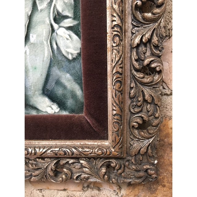 Late 19th Century Framed Tile Set by Isaac Broome - a Pair For Sale In Monterey, CA - Image 6 of 12