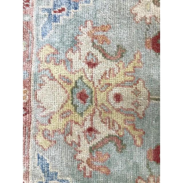 Textile 1990s Turkish Oushak Handmade Rug - 8′5″ × 10′8″ For Sale - Image 7 of 11
