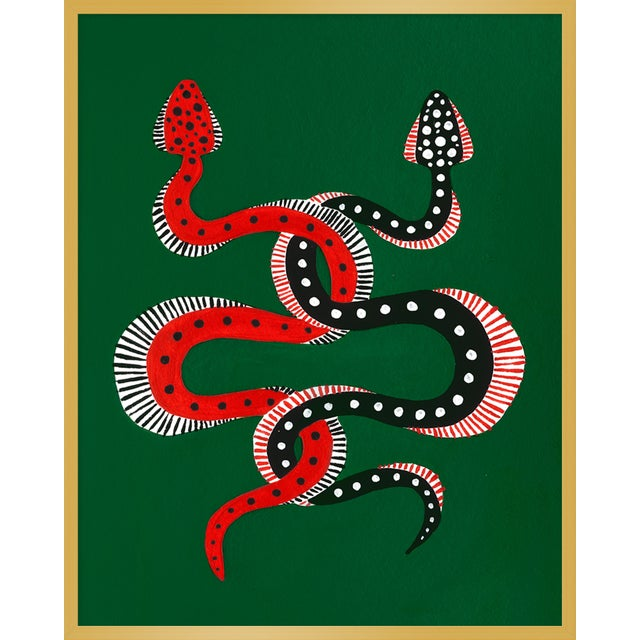 "Contemporary Medium ""Sushi & Cheeseburger the Snakes"" Print by Willa Heart, 32"" X 40"" For Sale - Image 3 of 3"