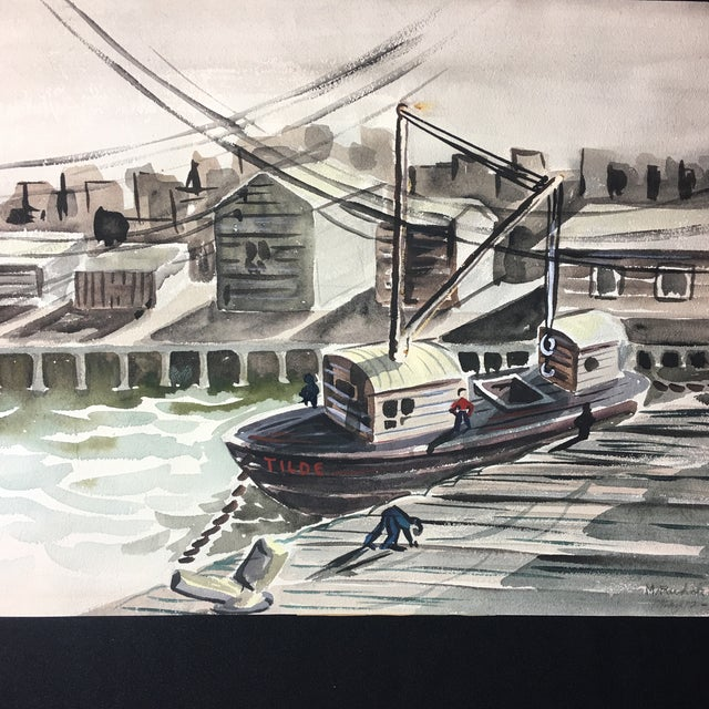 1952 Marine Watercolor Unframed - Image 5 of 7