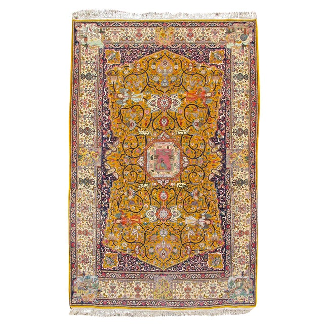 Tabriz Persian Rug - 6′4″ × 10′4″ For Sale
