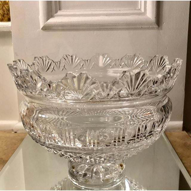 English Traditional Huge Waterford Crystal Kings Centerpiece Bowl For Sale - Image 3 of 5