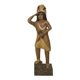 American carved life size Indian figure For Sale
