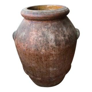 "Tuscan Antique Terracotta Oil Jar- 22""h For Sale"