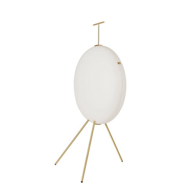 Gio Ponti Luna Verticale floor lamp in brass. Originally designed by Italian icon Gio Ponti in 1957, this authorized re-...