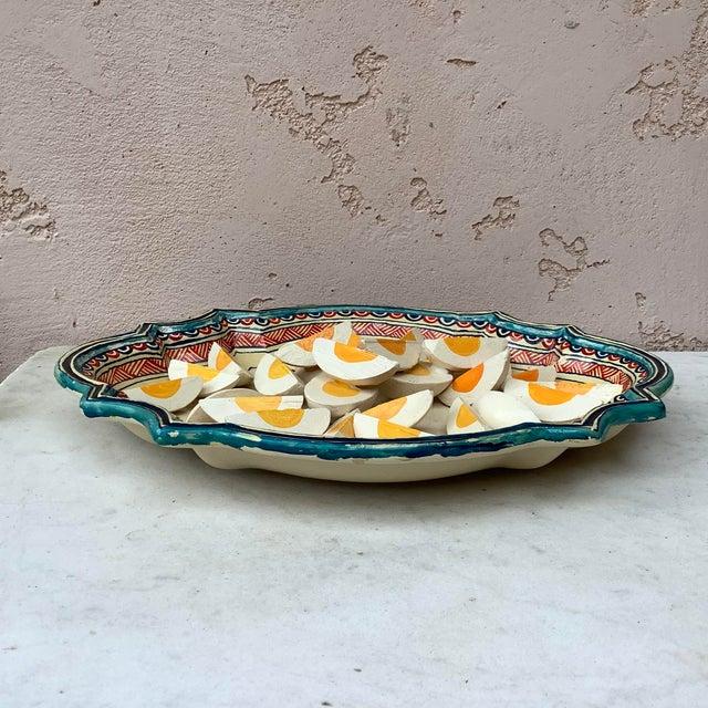 1930 Majolica Trompe l'Oeil Eggs Platter For Sale - Image 4 of 8