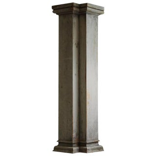 Distressed Tall Wooden Architectural Column with Patina