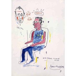 Basquiat Keith Haring in Milan Poster