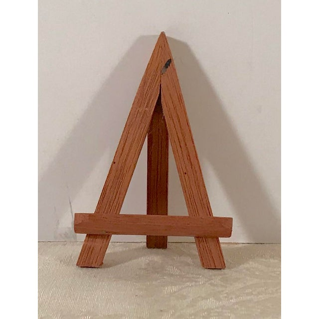 Modern Wooden Mini-Easels - a Pair For Sale In Dallas - Image 6 of 9