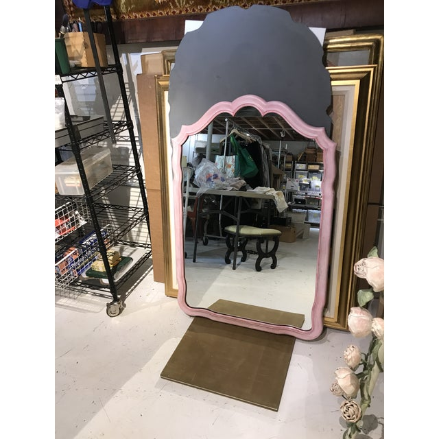 1960s John Widdicomb Painted Pink Mirror For Sale - Image 5 of 12